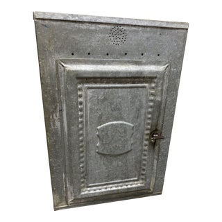 Vintage Farmhouse Metal Pie and Bread Cabinet For Sale