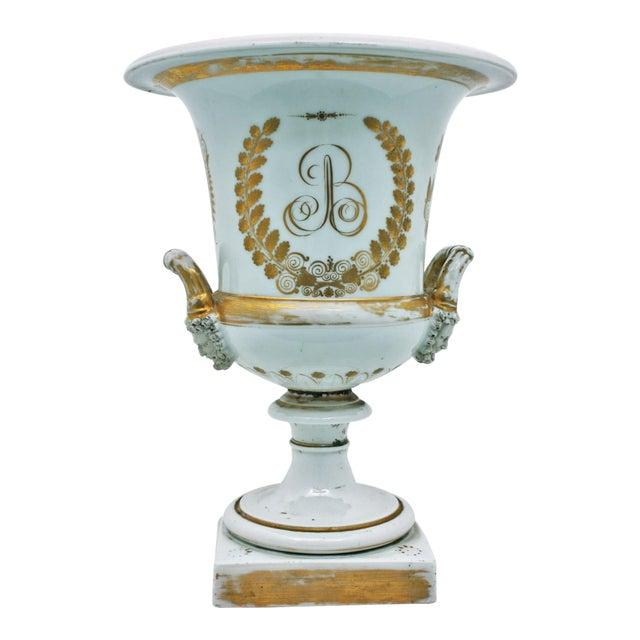 Mid 19th Century French Large Paris Porcelain Urn For Sale
