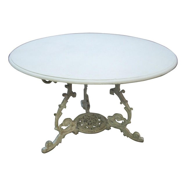 Scrolled Iron Base Table - Image 3 of 3