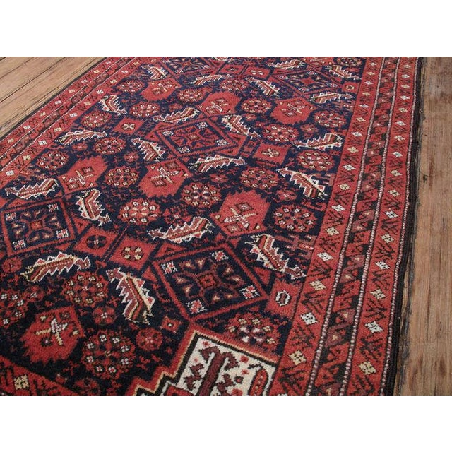 Afghan Antique Baluch Rug For Sale - Image 3 of 8