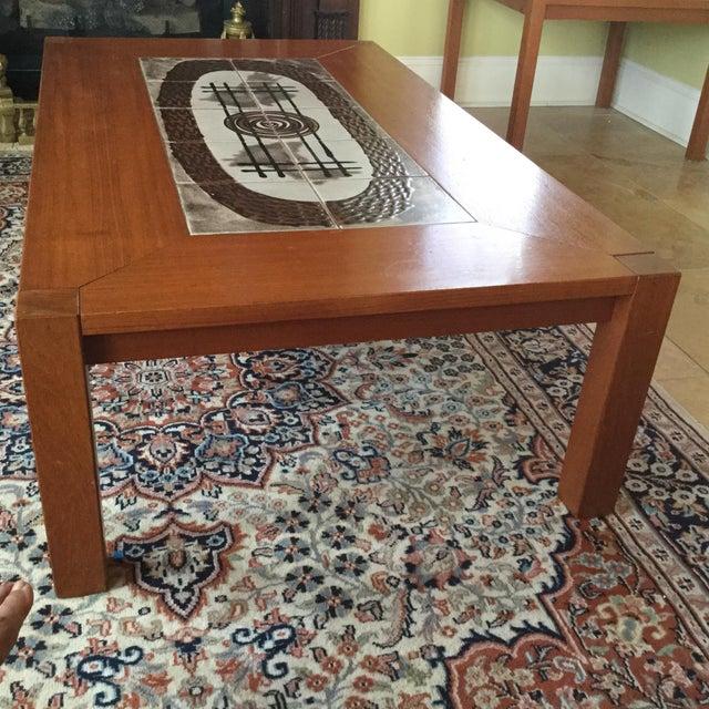 Danish Modern Tile Top Coffee Table - Image 5 of 7