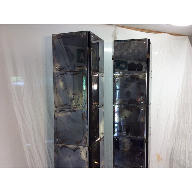 Mid-Century Modern Mirrored Four-Panel Screen - Image 3 of 11