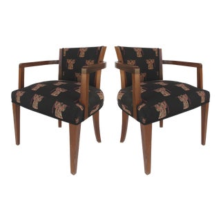 French Art Deco Arm Chairs - A Pair