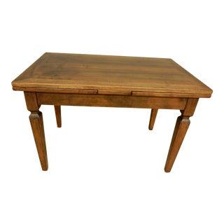 Italian Walnut Farm Table For Sale