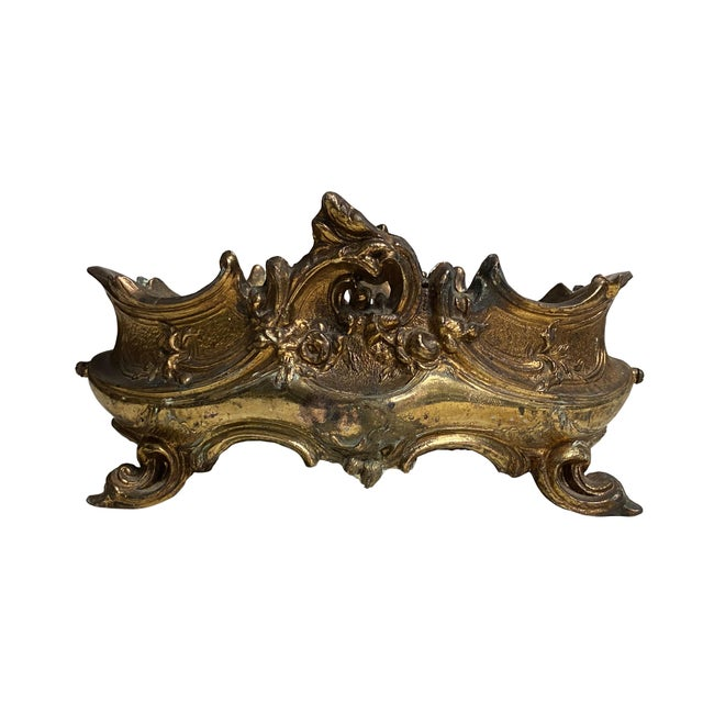 Late 20th Century French Brass Rococo Jardiniere For Sale - Image 5 of 5