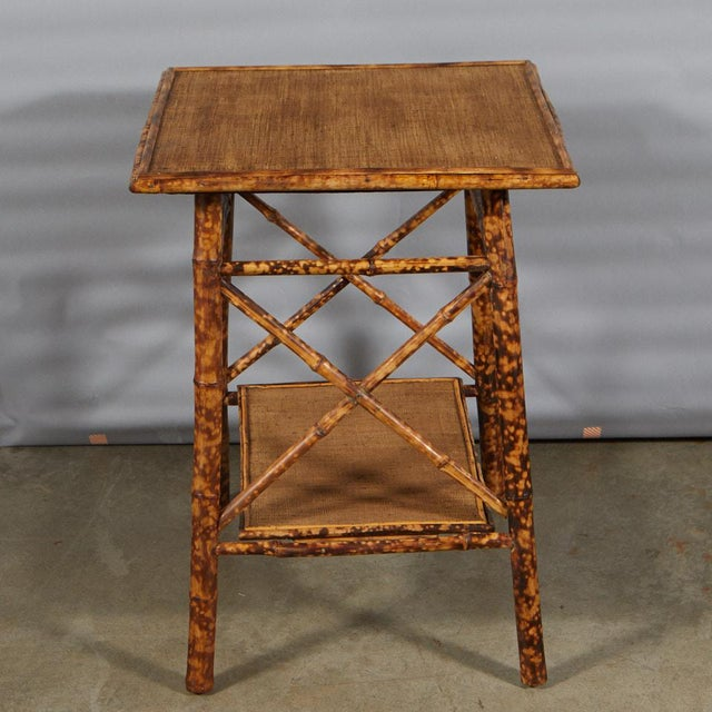 Traditional Tiger Bamboo Side Table For Sale - Image 3 of 6