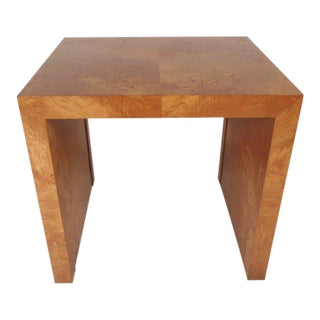 Vintage Modern Burl End Table by Milo Baughman For Sale