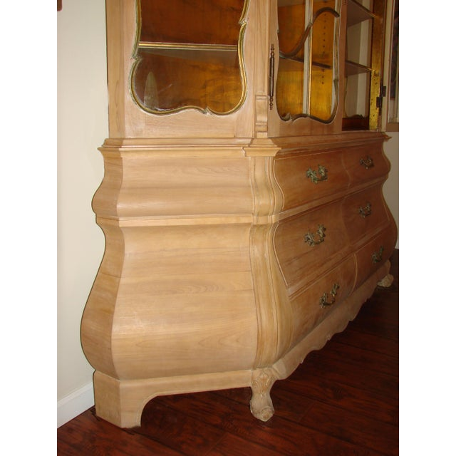 Italian Antique Breakfront China Display Cabinet For Sale - Image 3 of 9