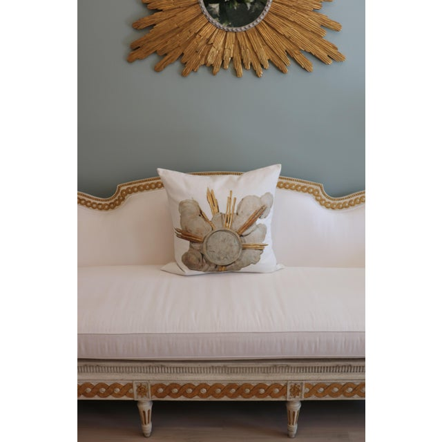 Gray French Cathedral Altar Fragment Photo Pillow For Sale - Image 8 of 13