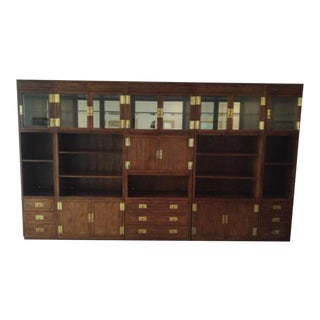 20th Century Campaign Henredon 5-Piece Display Cabinet For Sale