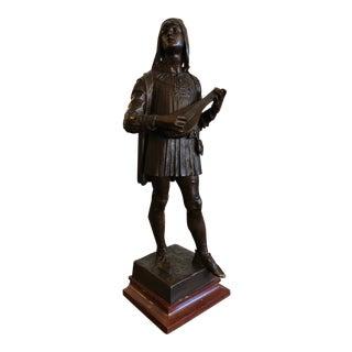 1880s Claudius Marioton The Venetian Bronze Table Top Sculpture For Sale