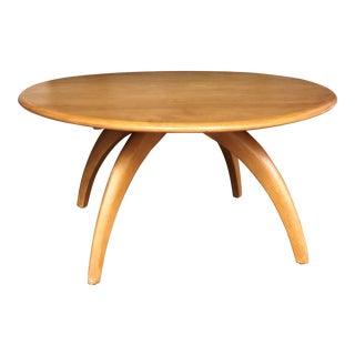 Heywood Wakefield Mid Century Modern Revolving Circular Round Coffee Table For Sale