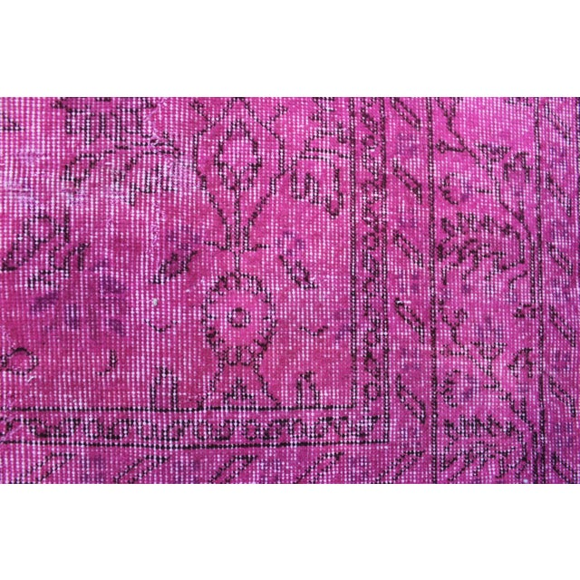Vintage Overdyed Turki̇sh Rug - 6′4″ × 10′6″ - Image 5 of 6