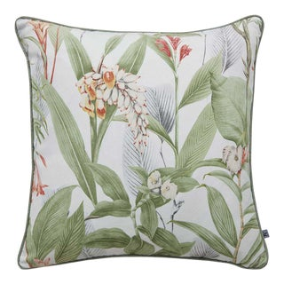 Botanical Green Cushion For Sale