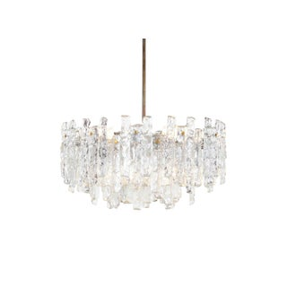 "Austrian ""Soria"" Ice Glass Chandelier by j.t. Kalmar For Sale"