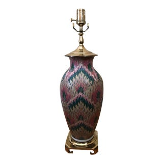 Vintage Heyward House Brass Chinoiserie Table Lamp For Sale