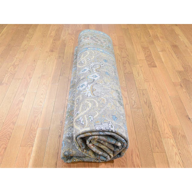 Cypress Tree Silk With Oxidized Wool Hand-Knotted Rug- 9′1″ × 12′ For Sale - Image 10 of 13