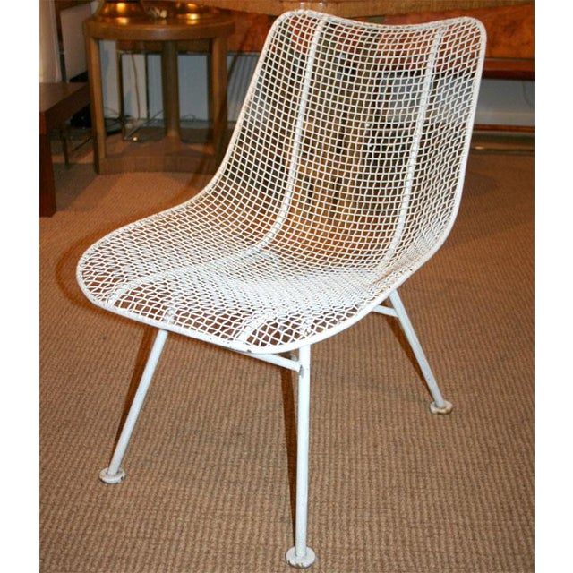 Set of 24 vintage wire mesh chairs with jet age form frame and horizontal pattern wire mesh seat from the Sculptura line...