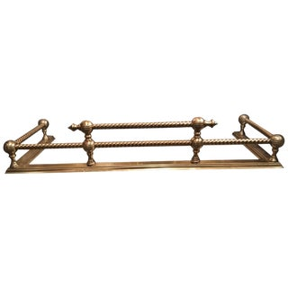 English Brass Fireplace Fender, 19th Century For Sale