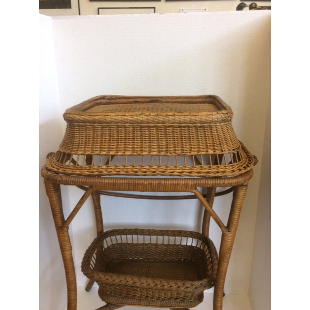Rattan Basket Stand - Image 4 of 11
