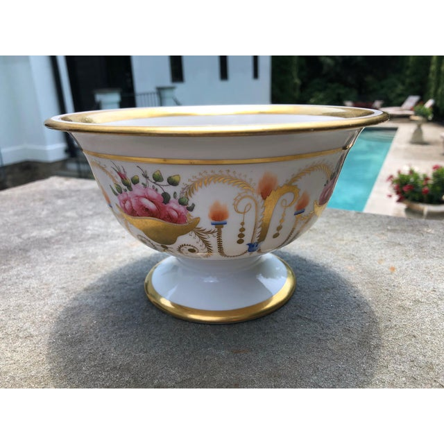 19th English Traditional Davenport Gilt Decorated Billingsley Roses Bowl For Sale - Image 10 of 12