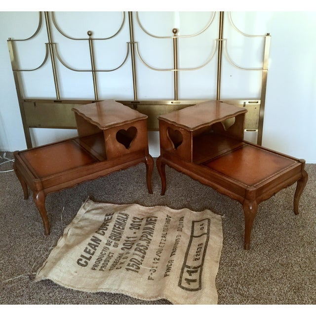 Vintage Double Top Side Tables - a Pair - Image 2 of 8