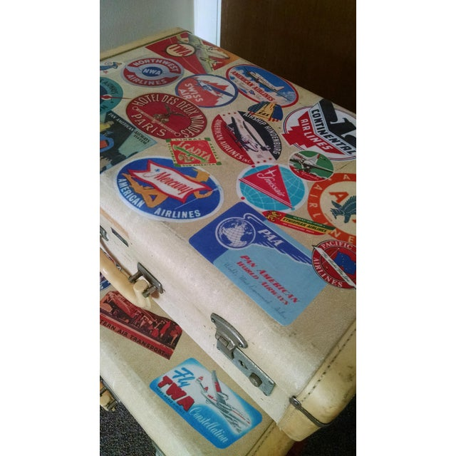 Vintage Suitcase Storage Accent Table - Image 8 of 9