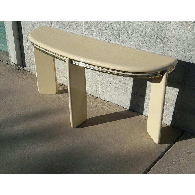 1980's Institute of Design Entry Table Console - Image 2 of 5