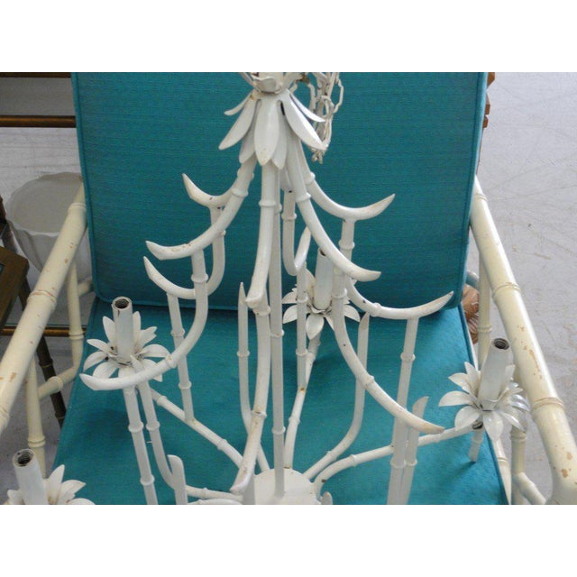 Faux Bamboo Pagoda Chandelier - Image 8 of 10