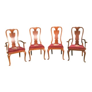Drexel Heritage Needlepoint Chippendale Chairs - Set of 4