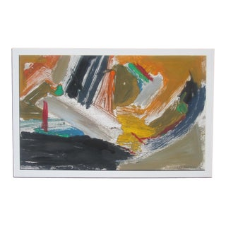 Les Anderson, 1980s Abstract Monotype Print For Sale