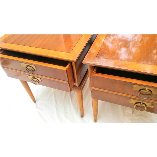 Mid Century Walnut Nightstands - a Pair - Image 5 of 10