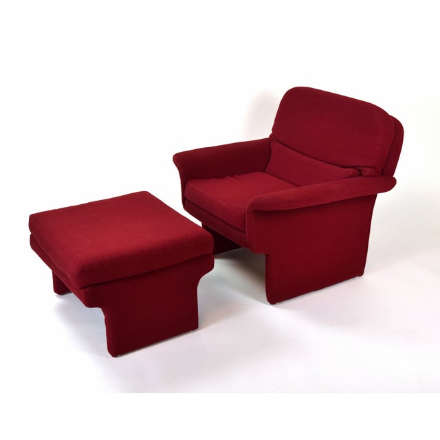 1960s Mid-Century Modern Vladimir Kagan for Preview Armchair and Ottoman For Sale - Image 5 of 5