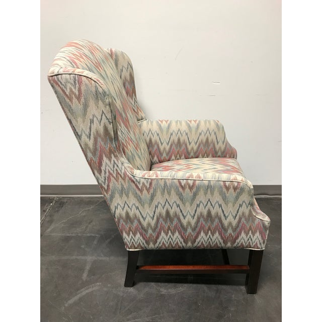 Mahogany Chippendale Flame Stitch Wing Chair - Image 4 of 10