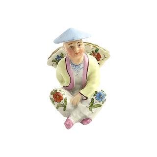 Chinese Figural Porcelain Menu Holder For Sale