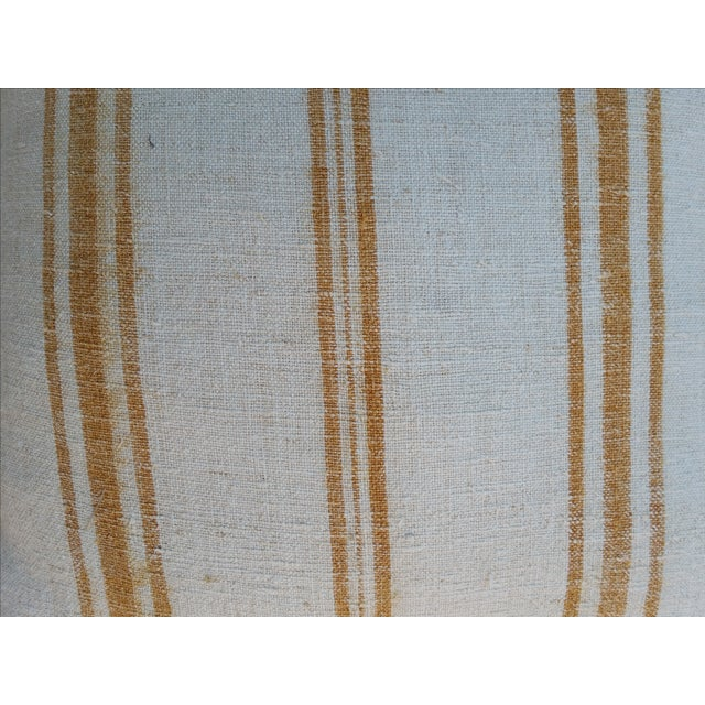 Faded Ochre Grain Sack Pillows - Pair - Image 3 of 6