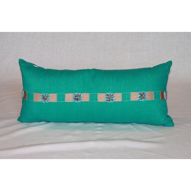 Aqua Blue Lumbar Pillow - Image 2 of 4