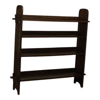 Antique Mission Arts & Crafts Oak Bookshelf For Sale