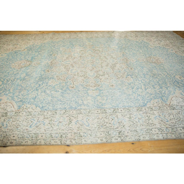 "Shabby Chic Vintage Distressed Sivas Carpet - 7' X 10'4"" For Sale - Image 3 of 13"
