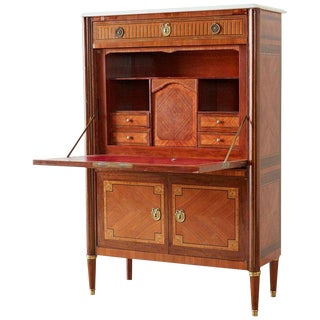 French Louis XVI Style Fall-Front Secretaire Abattant For Sale