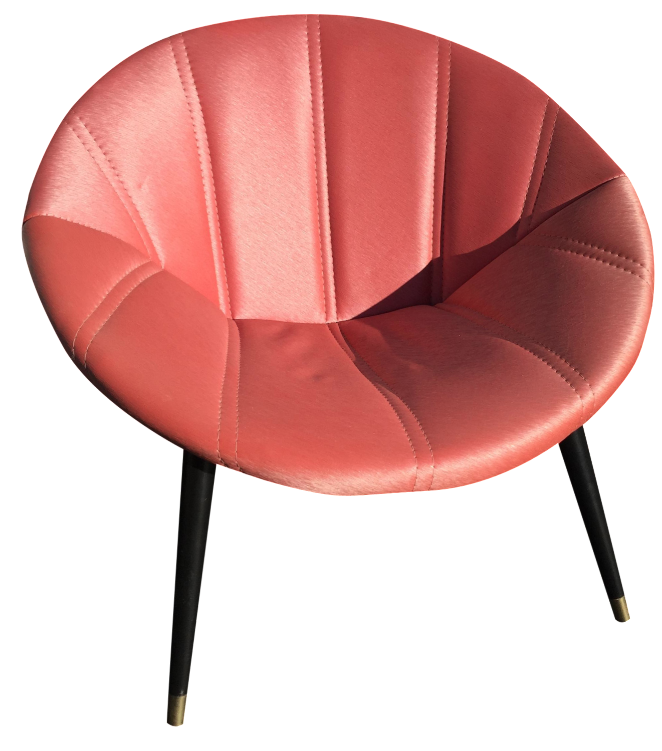 Genial Melbourne Mid Century Saucer Chair In Salmon
