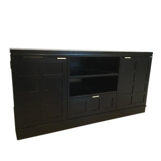Crate & Barrel Black Media Console For Sale