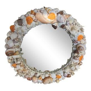 Vintage Round Shell Mirror