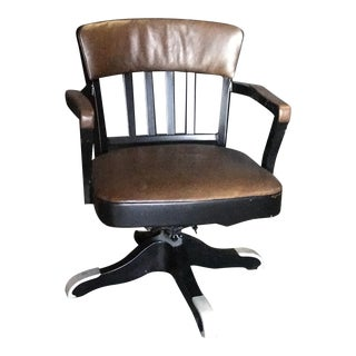 Vintage Italian 60s Iron Swivel Office Chair For Sale