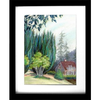 Impressionist Colorful Plein Air Landscape Art Drawing For Sale
