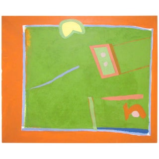 John Jagel Abstract Painting Dated 1964, Student of Joseph Albers For Sale