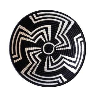 African Black & White Zig Zag Rwanda Basket