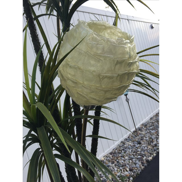 Mid-Century Spun Lucite Shade Palm Tree Floor Lamp - Image 8 of 10