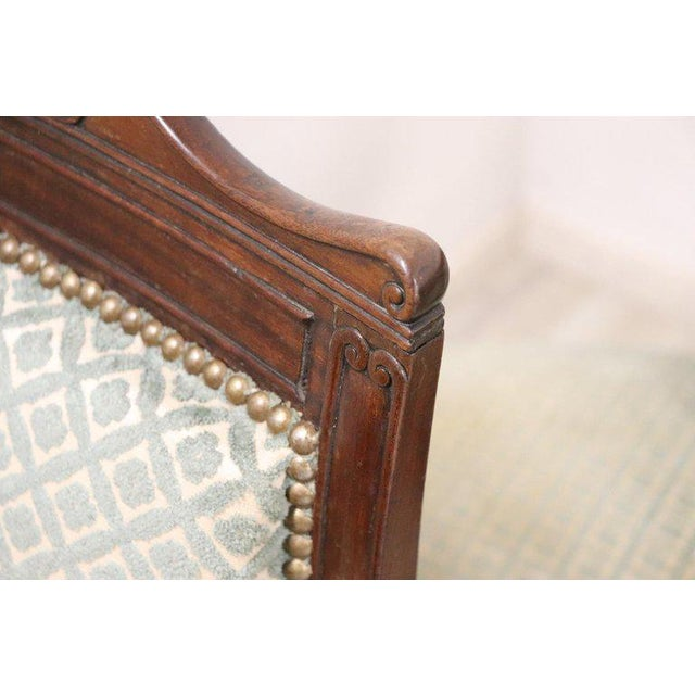 19th Century Italian Carved Mahogany Charles X Six Chairs For Sale - Image 11 of 13