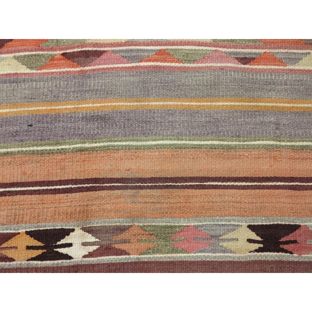 "Anatolian Kilim Runner Pastel Colored Hallway -2'1'x10"" For Sale - Image 10 of 13"